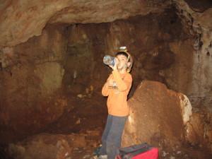 Na gruta da Burra.