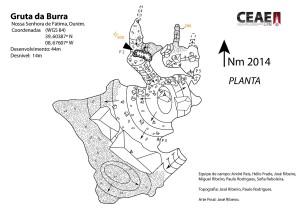 Planta gruta da Burra.