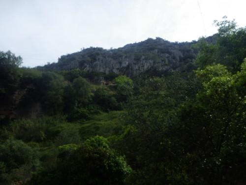 Zona mais abaixo no vale.